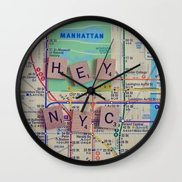 New York City, NYC Map, Subway, Travel Wall Clock