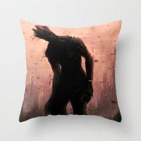 groot Throw Pillows featuring Groot by Varsha Vijayan