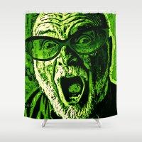 scream Shower Curtains featuring SCREAM! by Silvio Ledbetter