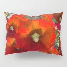 Orange Hollyhocks Southwest  Garden Pillow Sham