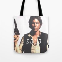 han solo Tote Bags featuring Han / Solo by Earl of Grey