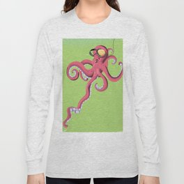 Diving Audio Squid Long Sleeve T-shirt