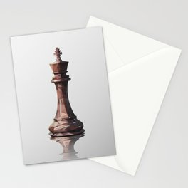 king low poly Stationery Cards