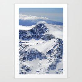 """Big mountains"". Aerial photography Art Print"