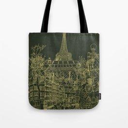 Paris! Olive Tote Bag