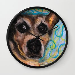 Concerned Terrier Wall Clock