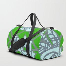 Green Rose Trellis Duffle Bag