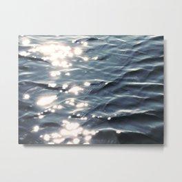 Sunlight on Ocean Water Waves Metal Print