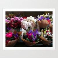 Fresh Spring Flowers/Las Flores de la Primavera Art Print