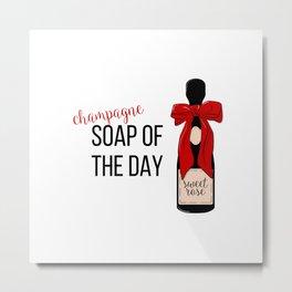 Champagne party print Metal Print
