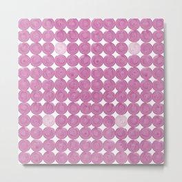 Pinker dot dot pink dot small Metal Print
