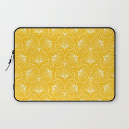 Stylized Ginkgo Biloba Flower Laptop Sleeve