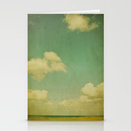 sky beach dyke Stationery Cards