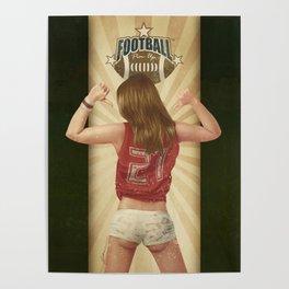 VINTAGE GIRLS - Footnall Poster