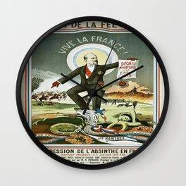 Vintage poster - La Finn de la Fee Verte Wall Clock
