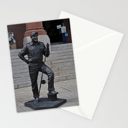 Young Hemmingway Statue Stationery Cards