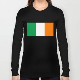 Irish national flag - Flag of the Republic of Ireland, (High Quality Authentic Version) Long Sleeve T-shirt