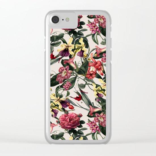 VS019 Botanical Garden Clear iPhone Case