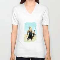 terminator V-neck T-shirts featuring TERMINATOR by Erased Account