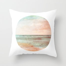 I Remember #1 - Ocean Print Throw Pillow