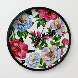 Vintage Floral Pattern No. 10 Wall Clock