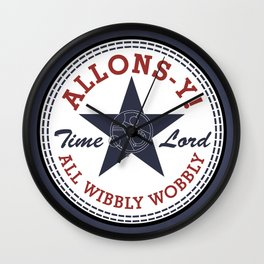 Allons-y! All Wibbly Wobbly Wall Clock