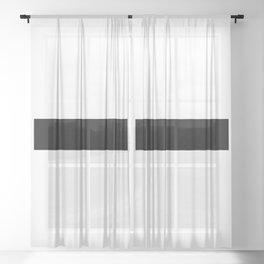 Minus Sign (Black & White) Sheer Curtain
