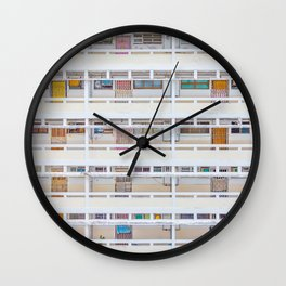 Hong Kong apartment in old district Wall Clock