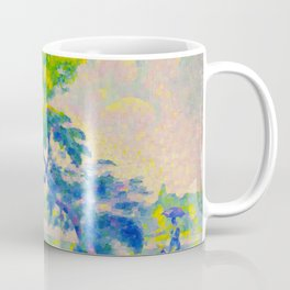 Bending Tree 1905 Henri-Edmond Cross Neo-Impressionism Pointillism Oil Painting Coffee Mug