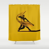 baseball Shower Curtains featuring Baseball by Enzo Lo Re