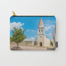 Square of the Glagolitic Monks with Church of St Francis, Town of Krk on the island of Krk, Croatia Carry-All Pouch