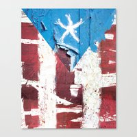 puerto rico Canvas Prints featuring Puerto Rico Flag by Fresh & Poppy