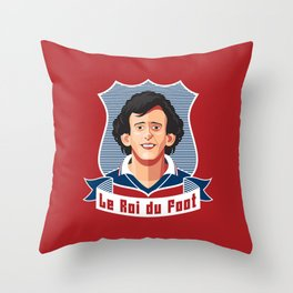 Le Roi du foot Throw Pillow