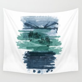 Blue and green landscape Wall Tapestry