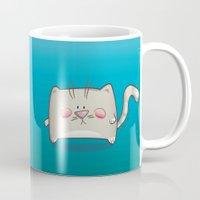 kitty Mugs featuring Kitty by jebirvoki