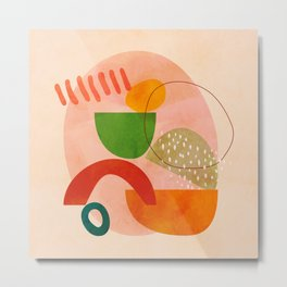 modern art abstract shapes play 3 Metal Print