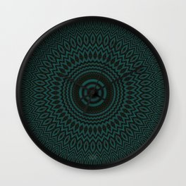 Mandala Fractal in Teal Study 04 Wall Clock