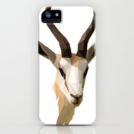 Low Poly Antelope iPhone Case