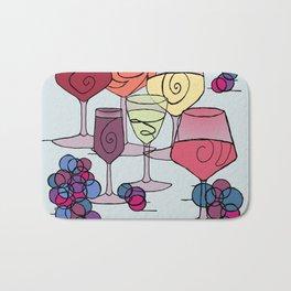 Wine and Grapes Bath Mat