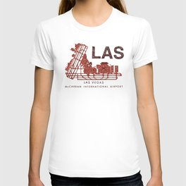 LAS Airport Map + text T-shirt