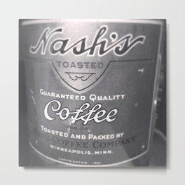 Nash's Vintage Coffee Tin Metal Print