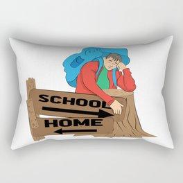 School or home Rectangular Pillow