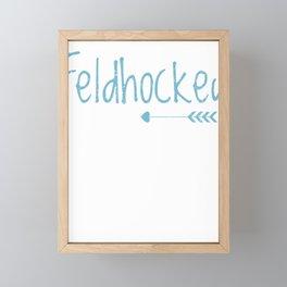 Field Hockey Player Goalie Coach Lover gift  Framed Mini Art Print
