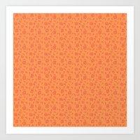 Zany Swirls Pattern Art Print