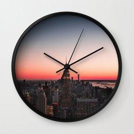 New York City Skyline Iconic Buildings Wall Clock