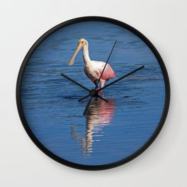 Roseate Spoonbill at Ding IV Wall Clock