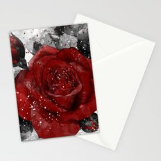 Crimson Stationery Cards