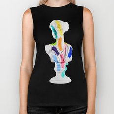 A Grecian Bust With Color Tests Biker Tank