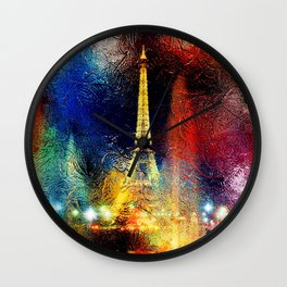 One Night At The Eiffel Tower - Paris Wall Clock