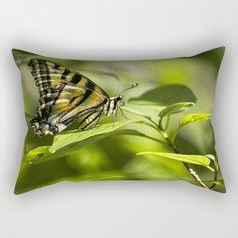 Butterfly Resting Rectangular Pillow